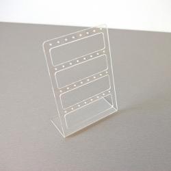 Oorbelrekje, transparant, plexi (1 st.)