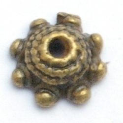 Kralenkapje, antique goud, 4 x 10 mm (15 st.)