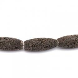 Lava kraal, langwerpig, bruin ( 3 st.)