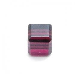 Glaskraal, blokje, paars, 6 x 6 mm (10 st.)