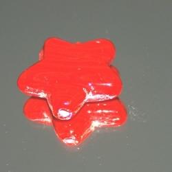 Glaskraal, ster, rood, 30 mm (1 st.)