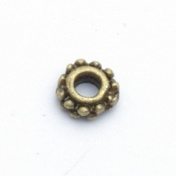 Metaal, spacer, antique goud, 6 mm (20 st.)