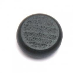 Houten kraal, rond, plat, zwart, 30 mm (5 st.)