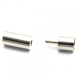 Metaal, slotje, tonnetje, small, zilver, 18 x 6 mm (3 st.)
