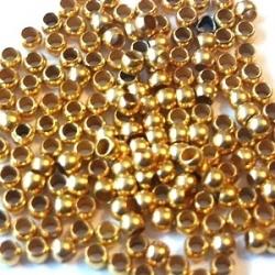 Knijpkralen, goudkleurig, 2,5 mm (10 gr.)