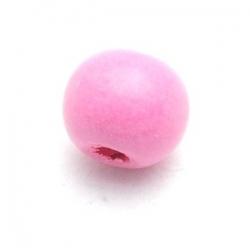 Houten kraal, rond, roze, 10 mm (20 st.)