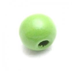 Hout kraal rond groen 8mm (20 st.)