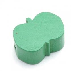 Houten kraal, appel, groen, 18 mm (10 st.)