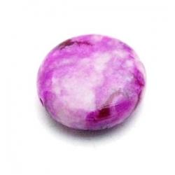 Halfedelsteen kraal, paars, rond, mm (5 st.)