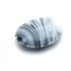 Glaskraal, ovaal, grijs, 18 mm (5 st.)