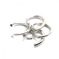 Ring open zilver 6 mm (10 gram)