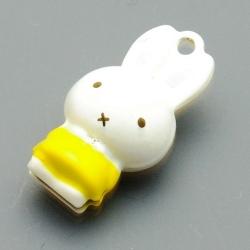 Metaal, belletje, Nijntje, 28 mm, geel (1 st.)