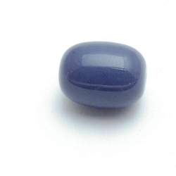Glaskraal, ovaal, grijs, 16 mm (10 st.)