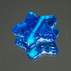 Glaskraal, ster, blauw, 27 mm (1 st.)