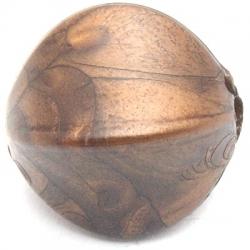 Metallook kraal bonk brons 22 mm (5 st.)