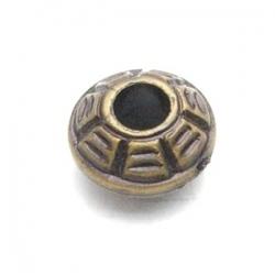 Metallook kraal donut brons 10 x 5 mm (15 st.)