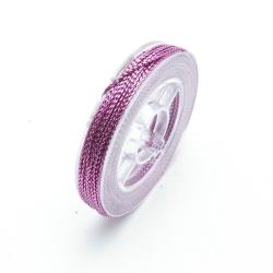 Rijg-/knoopdraad met glitters, roze, 1 mm (10 meter)