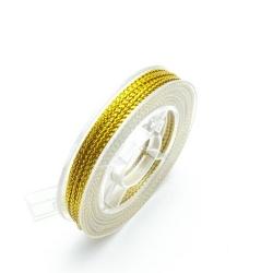 Rijg-/knoopdraad met glitters, goud, 1 mm (10 meter)