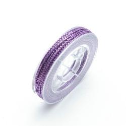 Rijg-/knoopdraad met glitters, lila, 1 mm (10 meter)