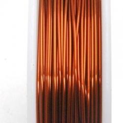 Wire Wire donker koper 0.6mm (10 mtr.)