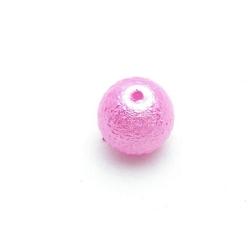 IJsparel, rond, fuchsia, 10 mm (20 st.)