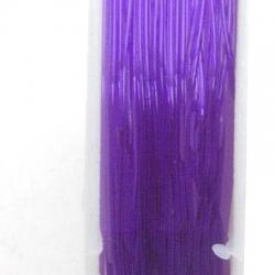 Elastiek rijgdraad 1.0mm paars (10 meter)