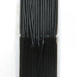 Elastiek rijgdraad 1.0mm zwart (10 meter)