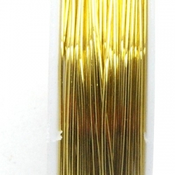 Wire Wire goud 0.6mm (10 mtr.)