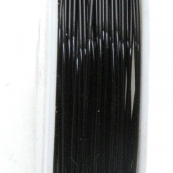 Wire Wire zwart 0.6mm (10 mtr.)