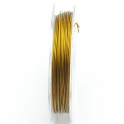 Staaldraad goud 0.45mm (10 meter)