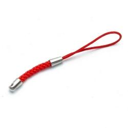 Mobielhanger, gevlochten, rood, 64 mm (5 st.)
