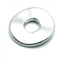 Dichte ring, zilver, metallook, 24 mm (5 st.)