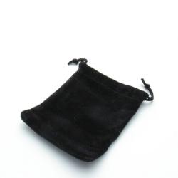 Velours buideltje, zwart, 7 x 9 cm (1 st.)