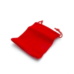 Velours buideltje, rood, 7 x 9 cm (1 st.)