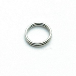 Ring split antique zilver 10 mm (10 gram)