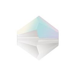 MC Bead, Rondell / Bicone, Crystal AB, 4 mm