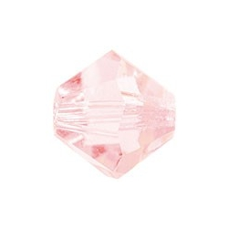 MC Bead, Rondell / Bicone, Light Rose, 4 mm