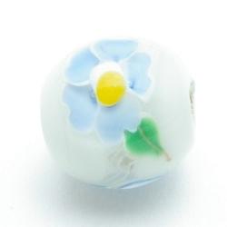 Handgemaakte glaskraal, Lampwork kraal, ca 20mm (1 st.)