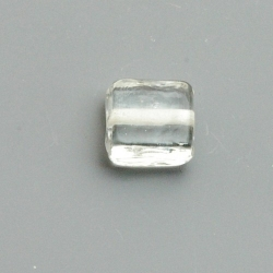 Glaskraal, vierkant (plat), transparant, 12 mm (10 st.)