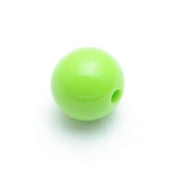 Kunststof kraal rond appelgroen 14 mm (10 st.)