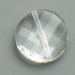 Swarovski style kraal, rond, chrystal, 18 mm (3 st.)