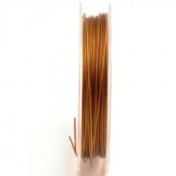Staaldraad bruin 0.45mm (10 meter)
