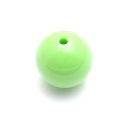 Kunststof kraal rond appelgroen 24 mm (3 st.)