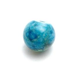 Halfedelsteen kraal, blauw, rond, 14 mm (5 st.)
