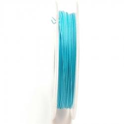 Staaldraad lichtblauw 0.45mm (10 meter)