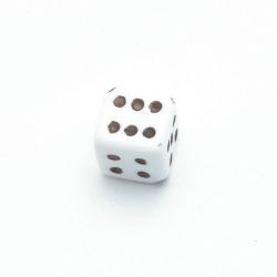 Kunststof kraal dobbelsteen zwart 10 mm (10 st.)