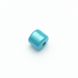 Miracle bead tonnetje turquoise 8 mm (10 st.)