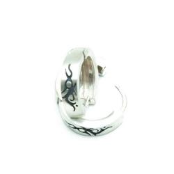 Oorbellen, Sterling zilver met tribal (1 paar)