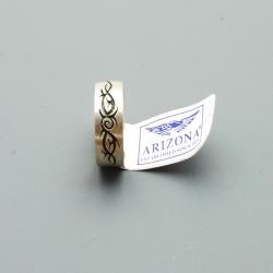 Ring, zilver met zwarte tribal, maat 21 (1 st.)