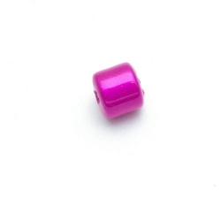 Miracle bead tonnetje fuchsia 8 mm (10 st.)